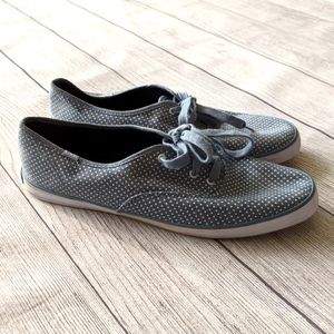 Keds blue dotted flat lace up shoes